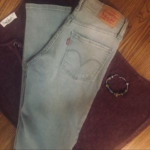 Levi's Mid-Rise Skinny Stretch Gray Size—26/32